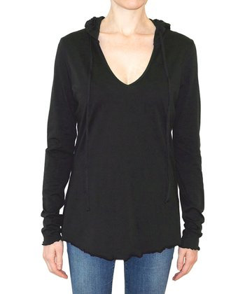 Black Solid Fiona Top