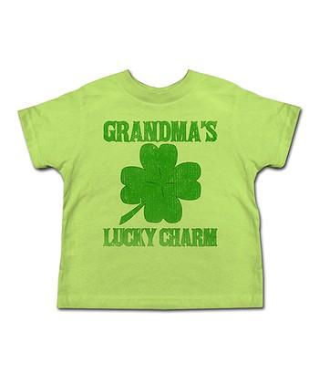 Key Lime 'Grandma's Lucky Charm' Tee - Toddler & Kids