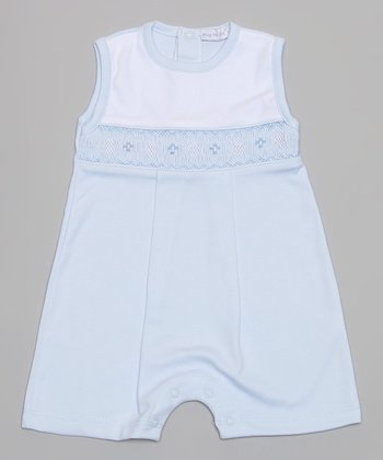 Blue Smocked Romper - Infant