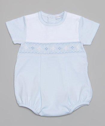 Blue Smocked Bodysuit - Infant