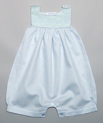 Blue Crocheted Romper - Infant