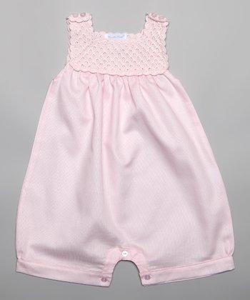 Pink Crocheted Romper - Infant