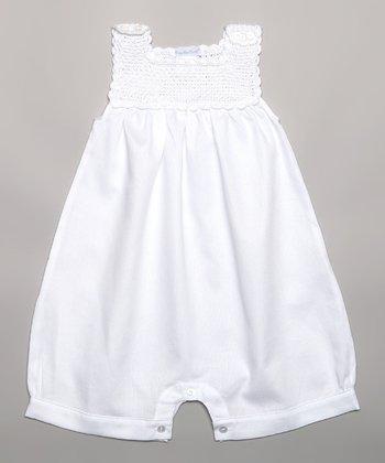 White Crocheted Romper - Infant