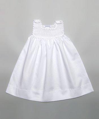 White Crocheted Jumper - Infant