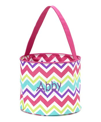 Rainbow Zigzag Personalized Easter Bucket