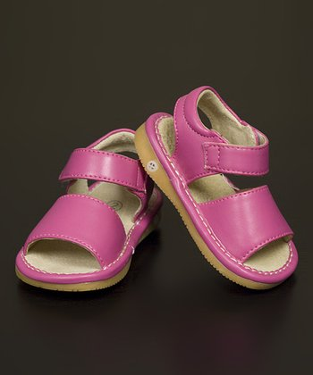 Hot Pink Leather Squeaker Sandal