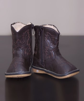 Dark Brown Leather Squeaker Cowboy Boot