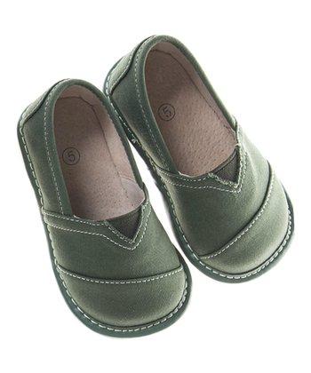 Olive Squeaker Shoe