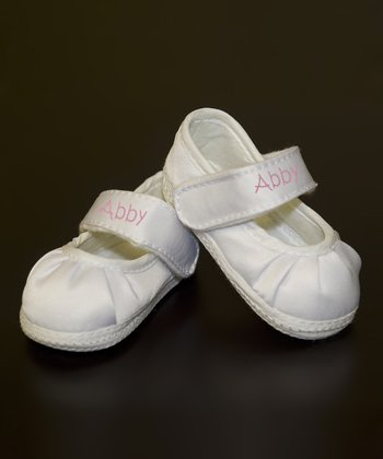 White & Pink Personalized Shoe