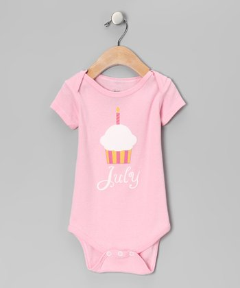 Light Pink 'July' Cupcake Bodysuit - Infant