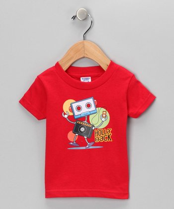Red 'Holla' Back' Tee - Infant, Toddler & Kids