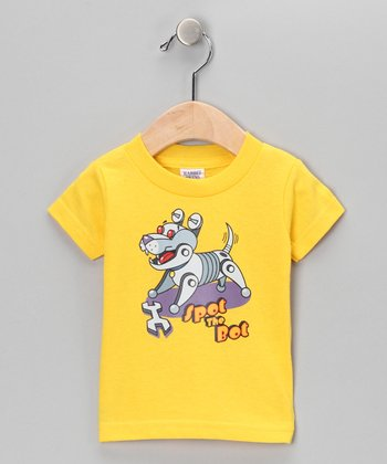 Yellow 'Spot the Bot' Tee - Infant, Toddler & Kids
