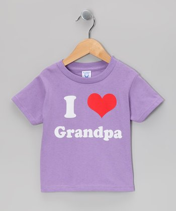Lavender 'I Love Grandpa' Tee - Toddler & Kids