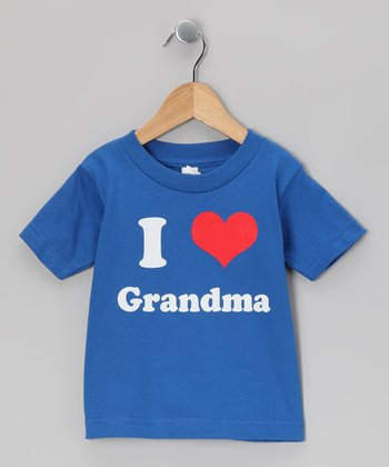Royal Blue 'I Love Grandma' Tee - Toddler & Kids