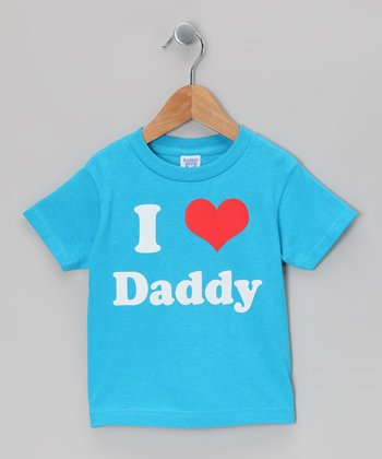 Turquoise 'I Love Daddy' Tee - Toddler & Kids
