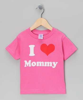 Raspberry 'I Love Mommy' Tee - Toddler & Kids