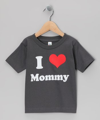 Charcoal 'I Love Mommy' Tee - Toddler & Kids