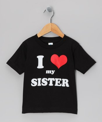 Black 'I Love My Sister' Tee - Toddler & Kids