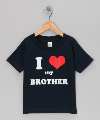 Navy 'I Love My Brother' Tee - Toddler & Kids