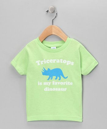 Key Lime Favorite Triceratops Tee - Toddler & Kids