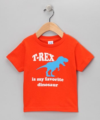 Orange Favorite T-Rex Tee - Toddler & Kids
