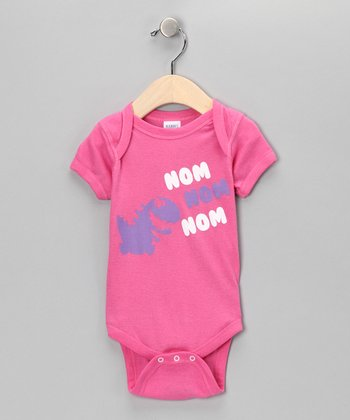 Raspberry 'Nom Nom Nom' Bodysuit - Infant
