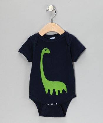 Navy Apatosaurus Bodysuit - Infant
