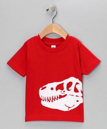 Red Dino Fossil Tee - Toddler & Kids