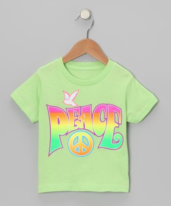 Key Lime Peace Dove Tee - Toddler & Girls