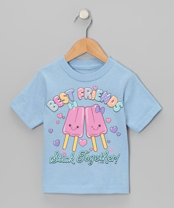 Light Blue Best Friends Popsicle Tee - Toddler & Girls