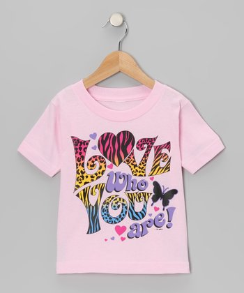 Light Pink Love Who You Are Tee - Toddler & Girls