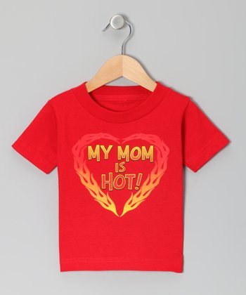 Red 'My Mom Is Hot!' Tee - Toddler & Kids