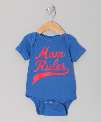 Blue 'Mom Rules' Bodysuit - Infant