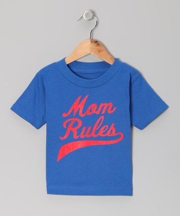 Blue 'Mom Rules' Tee - Toddler & Kids