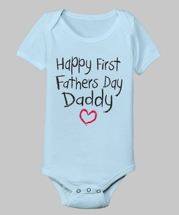 Light Blue 'First Father's Day' Bodysuit - Infant