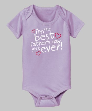 Lavender 'Best Father's Day Gift' Bodysuit - Infant