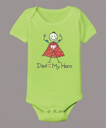 Key Lime 'My Hero' Bodysuit - Infant