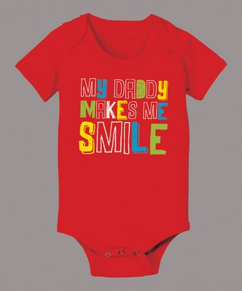 Red 'My Daddy Makes Me Smile' Bodysuit - Infant