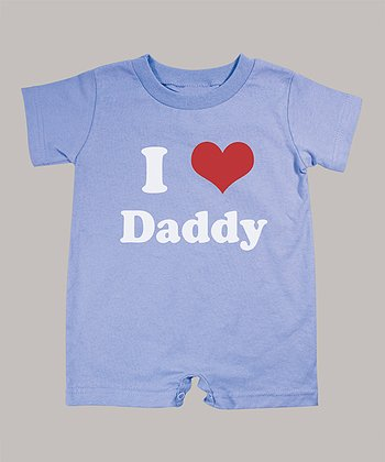 Periwinkle 'I Love Daddy' Romper - Infant