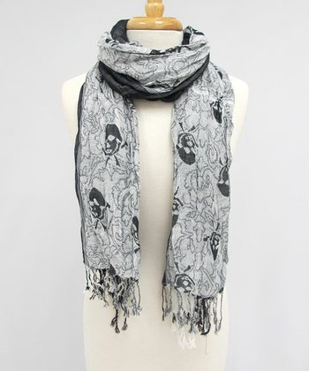 Black Skull & Crossbones Pirate Scarf