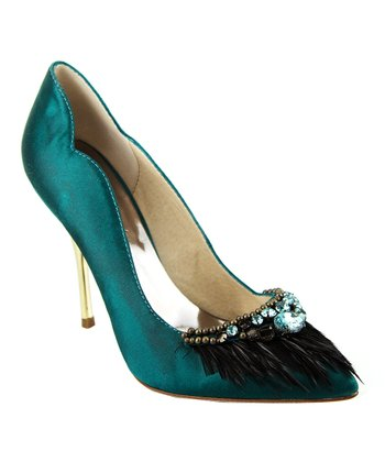 Peacock Green Tosca Pump