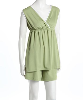 Green Nursing Tank & Shorts