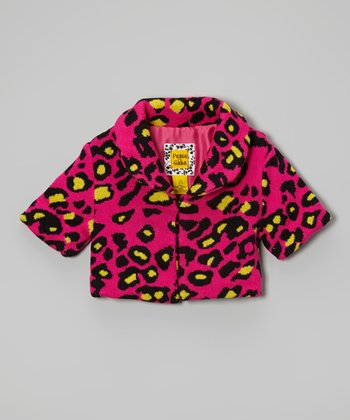 Magenta & Yellow Cheetah Coat - Toddler & Girls