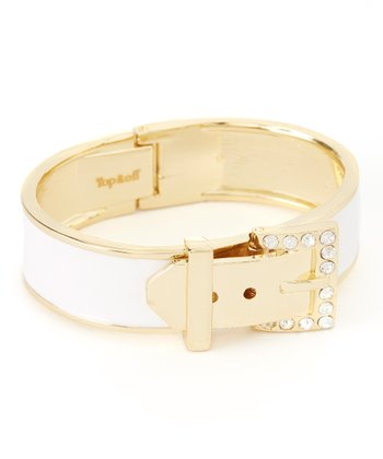 Gold & White Ava Bangle