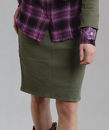 Olive Pencil Skirt - Women