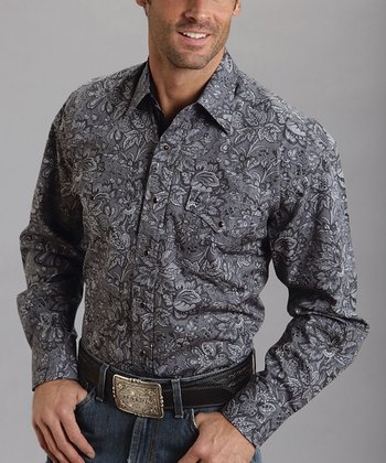 Gray Ted's Paisley Button-Up - Men