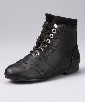 Black Lined Boot