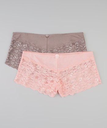 Blooming Rose & Grotto Boyshorts Set Women & Plus - Women & Plus