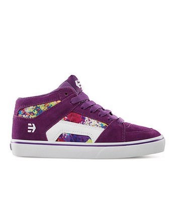 Purple & White RVM Leather Sneaker