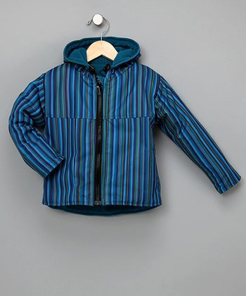 Outside Baby Apparel - Blue Stripe Reversible Two-Layer Jacket